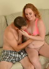 Redhead naughty housewife Roxy Normandy playing with her boyfriend at AllOver30