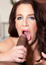 This time, Cora gets a big, black cock!