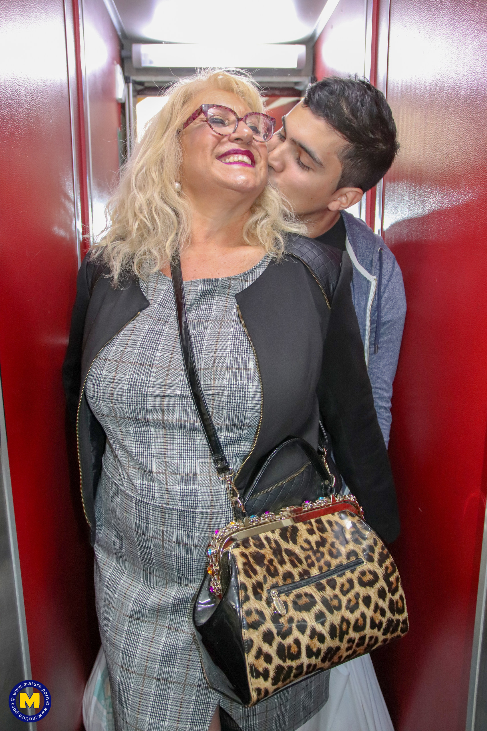 Big breasted BBW getting her way with a toyboy | Mature